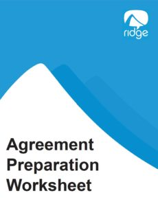 Agreement Prep Worksheet