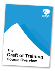craft of training course overview