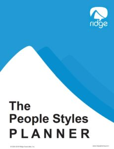 The People Styles Planner